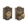 Meadows Single Cylinder Deadbolt Antique Brass (AB)