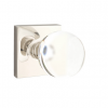 Emtek Modern Bristol Door Knob Set with Square Rosette Polished Nickel