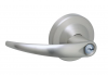 Schlage ND Series Heavy Duty Omega Entrance Lever (ND53PD) in satin chrome