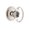 Grandeur Provence Crystal Door Knob Set with Ciculaire Rose Polished Nicked