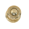 Brass Accents Ribbon and Reed Rosette with choice of knob or lever