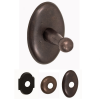 Fusion River Rock Sandcast Bronze Robe Hook with Decorative Roses