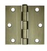 "Deltana 3"" x 3"" Square Corner Residential Steel Hinges S33R"
