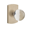 Emtek Bronze Bristol Crystal Door Knob with #4 Rose Tumbled White Bronze