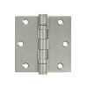 "Deltana SS35B 3-1/2"" x 3-1/2"" Square Corner Ball Bearing Stainless Steel Hinges"