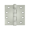 "Deltana SS44B 4"" x 4"" Ball Bearing Square Corner Stainless Steel Hinges (Pair) 0"