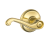 Schlage Flair F40 Fla Privacy 605 Polished Brass