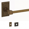 Fusion Sonoma Towel Bar with Decorative Roses