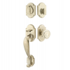Emtek 451211 Denver Handleset with Butte Knob Tumbled White Bronze