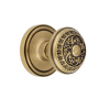 Grandeur Windsor Knob with Georgetown Rose Vintage Brass