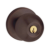 Baldwin 5215.ENTR Contemporary Keyed Entry 412 Distressed Venetian Bronze