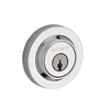 Baldwin Reserve Contemporary Round Deadbolt shown in Polished Chrome (260)