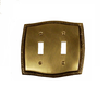 Brass Accents Rope Double Switch Plate