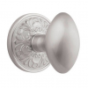 Emtek Egg Door knob with Lancaster rose Satin Nickel (15)
