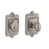 Egg & Dart Single Cylinder Deadbolt Satin Nickel (SN)