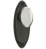 "Emtek 8055, 8105, 8205 Oval Beaded 7"" Non Keyed Sideplate with Hampton Knob"