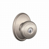 Schlage F51AND619WKF Andover Keyed Entry Door Knob Set with Wakefield Rose