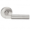 Emtek Hercules Door Lever with Disk Rosette Satin Steel (SS)