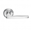 Emtek Stainless Steel Hermes Door Lever with Beveled Rosette Stainless Steel