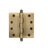"Nostalgic Warehouse 4"" Ball tipped hinge Satin Nickel (SN)"