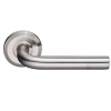 Emtek Stainless Steel Kiel Door Lever with Beveled Rosette Stainless Steel (SS)