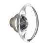 Nostalgic Warehouse Oval Clear Crystal Knobs Only Satin Nickel (SN)