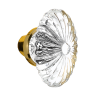 Nostalgic Warehouse Oval Fluted Crystal Knobs Only Polished Brass (PB)
