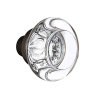 Nostalgic Warehouse Round Clear Crystal Knobs Only Oil Rubbed Bronze (ORB)