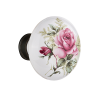 Nostalgic Warehouse Rose Porcelain Knobs Only Oil Rubbed Bronze (ORB)
