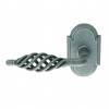 Emtek Lafayette Door Lever with #1 Rosette Satin Steel