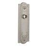 Nostalgic Warehouse Meadows Plate Without Keyhole Passage Satin Nickel
