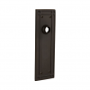 Nostalgic Warehouse Mission Plate Without Keyhole Passage Oil Rubbed Bronze