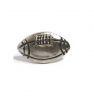 Emenee MK1043 Football Cabinet Knob in Antique Matte Silver (AMS)