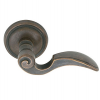 Emtek Napoli Door lever with #12 Rose Medium Bronze Patina (MB)