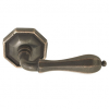 Emtek Octagon Door lever with #15 Rose Medium Bronze Patina (MB)