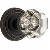 Emtek Old Town Clear knob with Regular Rose Oil Rubbed Bronze (US10B)