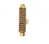 Emenee OR190 Rope On Bar Cabinet Knob shown in Antique Matte Gold (AMG)