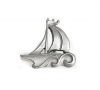 Emenee OR209 Sailboat Cabinet Knob shown in Antique Bright Silver (ABS)