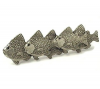 Emenee OR219 School of Fish Cabinet Pull shown in Antique Matte Silver