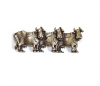Emenee OR252 Cow Cabinet Pull facing Right shown in Antique Matte Brass (ABR)