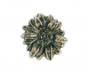 Emenee OR263 Sunflower Cabinet Knob shown in Antique Matte Silver (AMS)