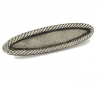 Emenee OR390 Rope Edge Oval Cabinet Pull in Antique Matte Silver (AMS)