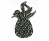 Emenee PFR101 Large Pineapple Cabinet Knob shown in Antique Matte Brass (ABR)