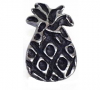 Emenee PFR102 Small Pineapple Cabinet Knob shown in Antique Matte Silver (AMS)