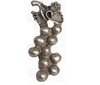Emenee PFR111 Large Grapes Cabinet Knob shown in Antique Matte Silver (AMS)