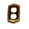 Brass Accents Rope Single Outlet Plate