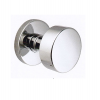 Emtek Brass Round Knob Set with Disk rosette Polished Chrome (US26)