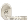 Emtek Santa Fe Door lever with #8 rose Satin Nickel (US15)