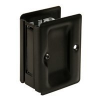 Deltana SDPA325 Heavy Duty Passage Pocket Door Lock in Oil Rubbed Bronze (US10B)