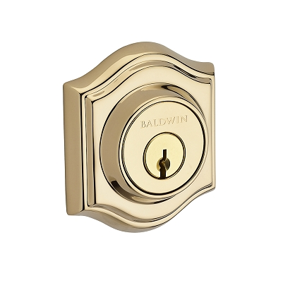 Baldwin Reserve Tradional Arch Deadbolt shown in Polished Brass (003)